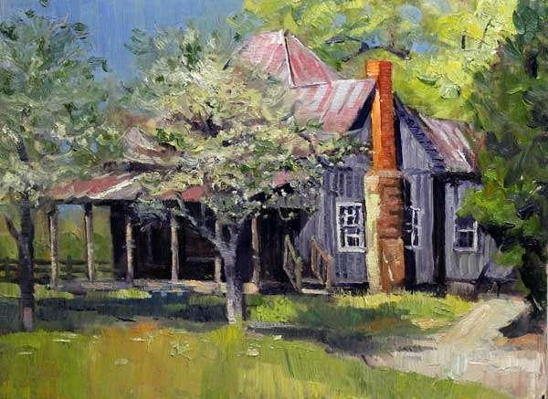 Mabry House Sunrise, 12x16, oil on linen