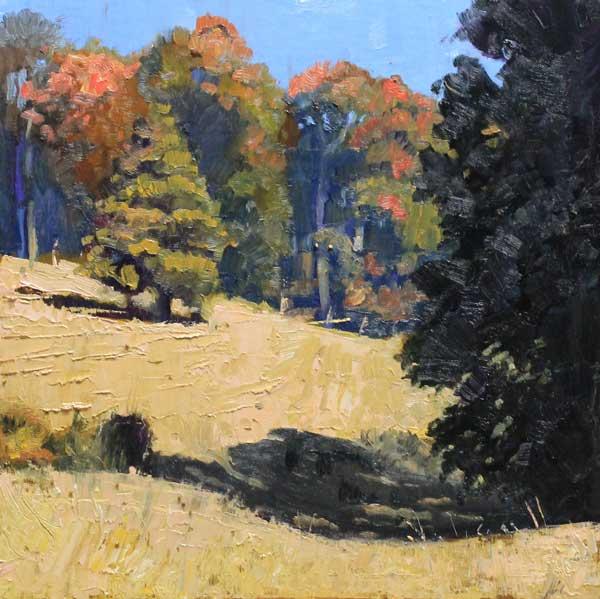 October Pastures Ed Cahill Plein Air