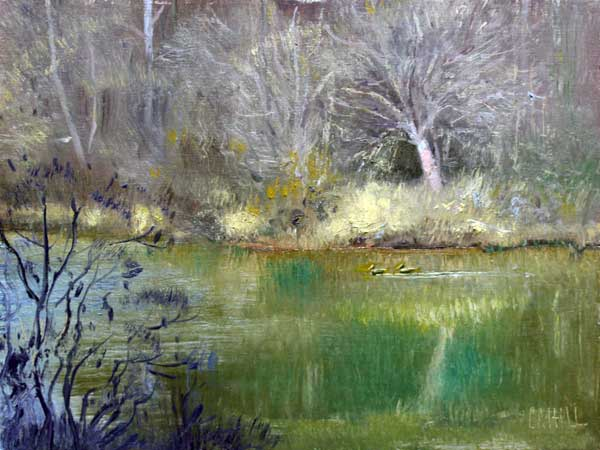 Color on the river-ed-cahill-plein-air